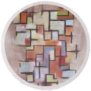 Abstract Line Series  Round Beach Towel
