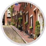 Acorn Street Boston Round Beach Towel
