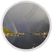 After The Rain In Reine Round Beach Towel