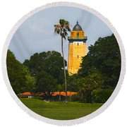 Alhambra Water Tower Round Beach Towel