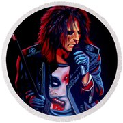 Alice Cooper  Round Beach Towel
