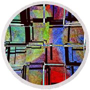 Altered Circles Round Beach Towel