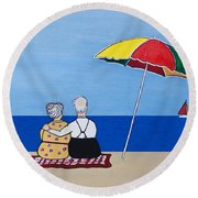 Always Together Round Beach Towel by Barbara McMahon