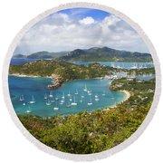 Antigua Round Beach Towel by Brian Jannsen