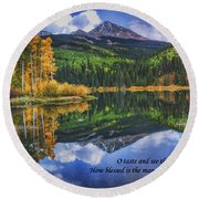 Approaching Storm  Round Beach Towel by Priscilla Burgers