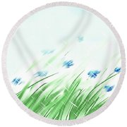 April Shower Round Beach Towel