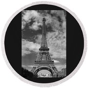 Architectural Standout Bw Round Beach Towel by Ann Horn