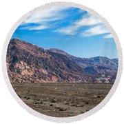 Artist Drive Death Valley National Park Round Beach Towel