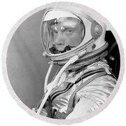 Astronaut John Glenn - Mercury Atlas 6 Round Beach Towel