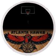 Atlanta Hawks Round Beach Towel