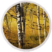 Autumn Sonata Round Beach Towel