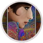 Barbra Round Beach Towel by Richard Laeton