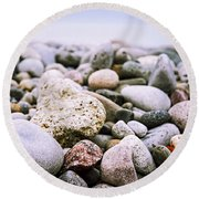 Beach Pebbles Round Beach Towel