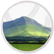 Ben Bulben Round Beach Towel