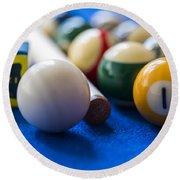 Billiard Balls Round Beach Towel