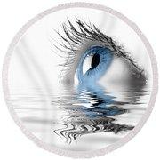 Blue Eye Round Beach Towel