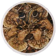 Bouquet Of Ballet    Round Beach Towel by Linda Simon