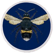 Bumblebee Bedazzled Round Beach Towel