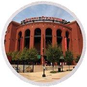 Busch Stadium - St. Louis Cardinals Round Beach Towel