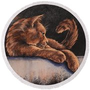 Catching The Last Rays Round Beach Towel by Cynthia House