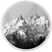 Cathedral Group Grand Teton National Round Beach Towel