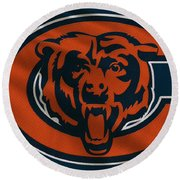 Chicago Bears Uniform Round Beach Towel