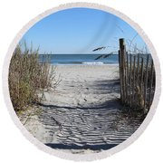 Life Is About Choice  Round Beach Towel