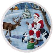 Christmas Treats Round Beach Towel