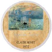 Claude Monet 2 Round Beach Towel