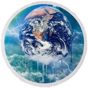 Climate Change Round Beach Towel