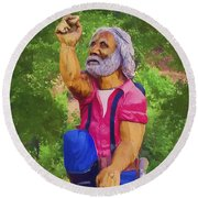 Coarsegold Miner Round Beach Towel