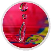 Colorful Water Drop Round Beach Towel