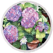 Corner Garden Round Beach Towel by Barbara Jewell