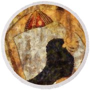 dancer of ancient Egypt Round Beach Towel by Michal Boubin