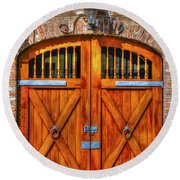 Doors Of Charleston Round Beach Towel