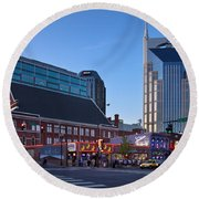 Downtown Nashville Round Beach Towel