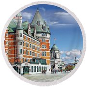 Fairmont Le Chateau Frontenac Series 01 Round Beach Towel