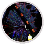 Fall Festival Ferris Wheel Round Beach Towel