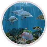 Fantasy Reef Re0020 Round Beach Towel