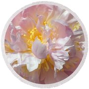 Round Beach Towel featuring the photograph Flirtatious Pink by Lilliana Mendez