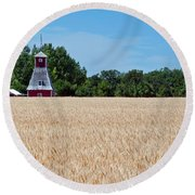 Round Beach Towel featuring the photograph Fox Tower by Keith Armstrong