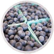 Fresh Blueberries Round Beach Towel