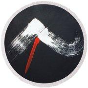 Fuji Ni Yogan - Ryu Round Beach Towel by Roberto Prusso