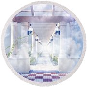 Gateway To Heaven Round Beach Towel