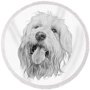 Goldendoodle Round Beach Towel