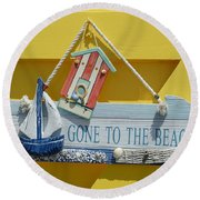 Gone To The Beach Round Beach Towel