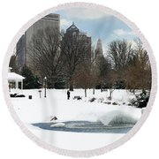 D48l3 Goodale Park Photo Round Beach Towel
