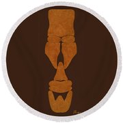 Hamite Male Round Beach Towel