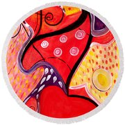 Heart And Soul Round Beach Towel