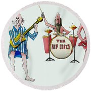Sixties And Seventies Musicians Round Beach Towel